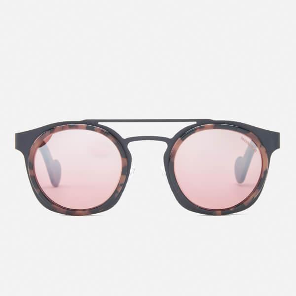 Moncler Women's Aviator Sunglasses - Coloured Havana/Bordeaux