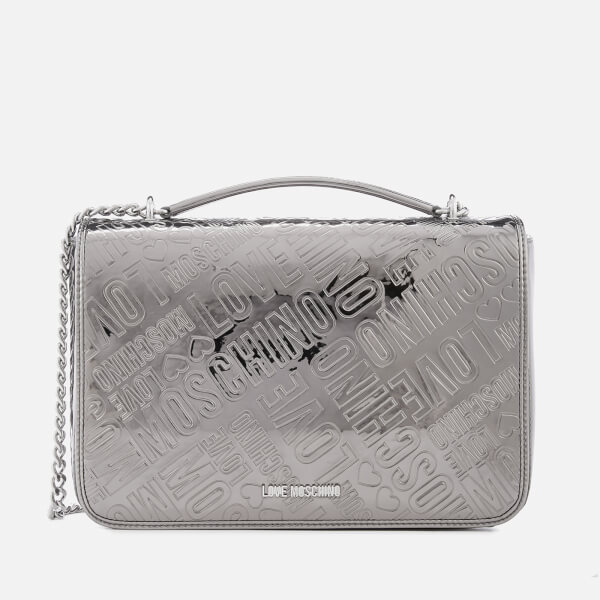 Love Moschino Logo-Embossed Faux Crossbody Bag IXN9oT