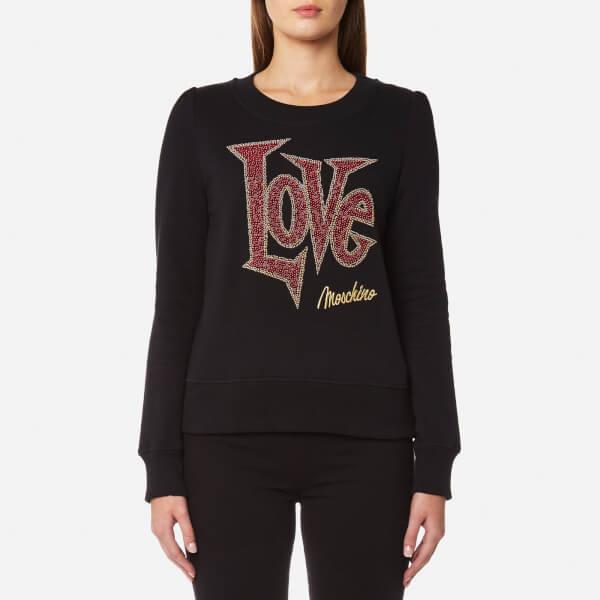 Love Moschino Women's Large Love Logo Sweatshirt - Black