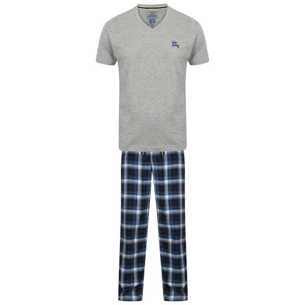 Tokyo Laundry Men's Jaspar Pyjama Set - Light Grey Marl