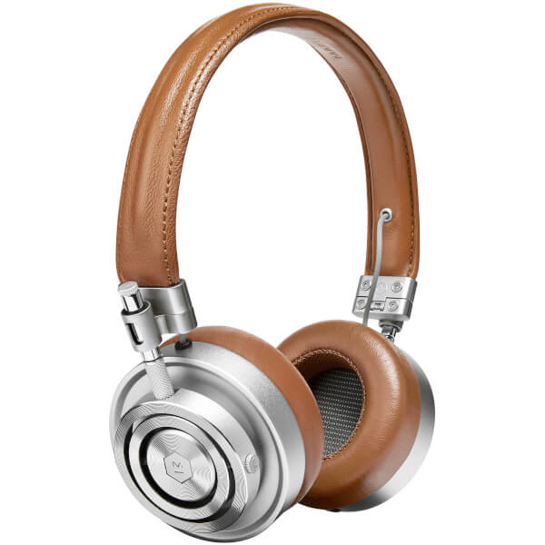 Master and Dynamic MH30 On Ear Headphones - Silver/Brown