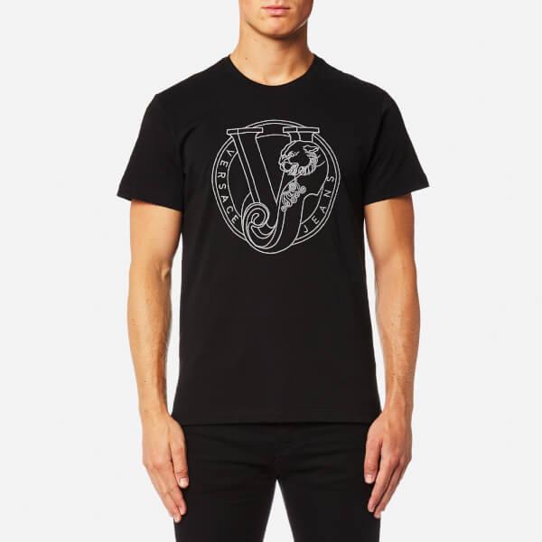 Versace Jeans Men's Large Chest Logo T-Shirt - Nero