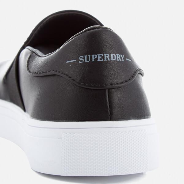 452ee3998116c Superdry Women s Manhattan Luxe Slip On Trainers - Black Womens ...