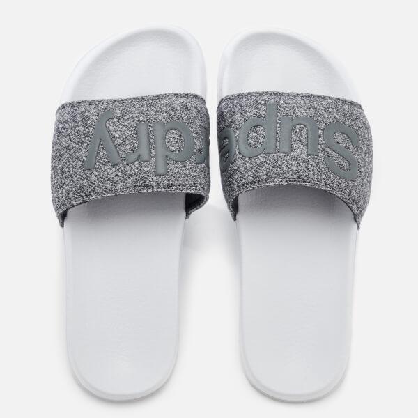 Superdry Men's Pool Slide Sandals - Optic/Grey Grit