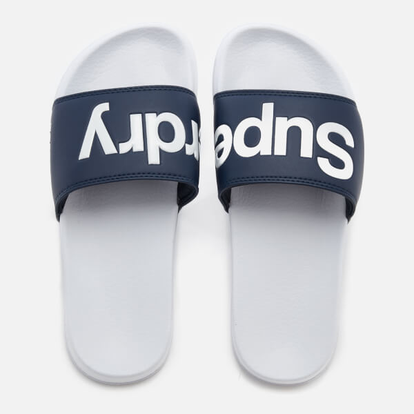 Superdry Women's Pool Slide Sandals - Navy/Optic