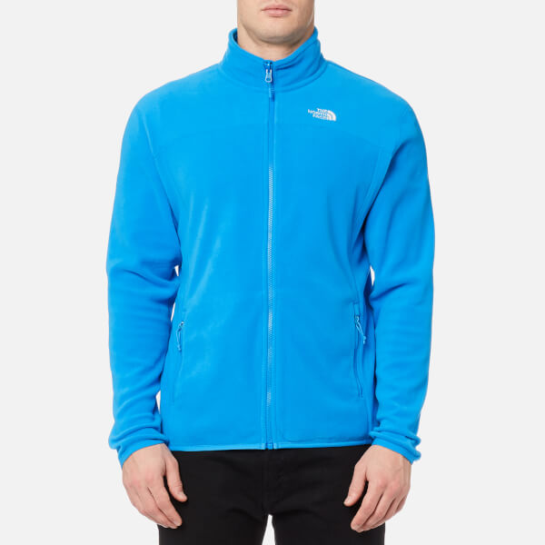 The North Face Men s 100 Glacier Full Zip Fleece Jumper - Blue Aster  Image  1 90e646acb