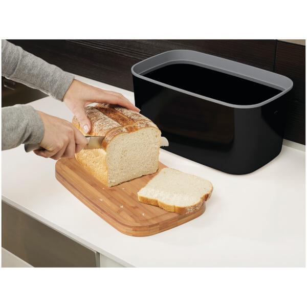 Joseph Melamine Bread Bin Black Image 3