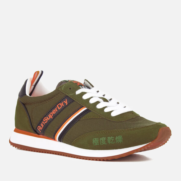 Superdry Women's Base Runner Trainers - Armour Khaki