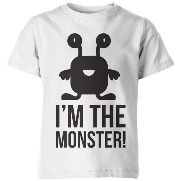 My Little Rascal Kids Im the Monster! White T-Shirt