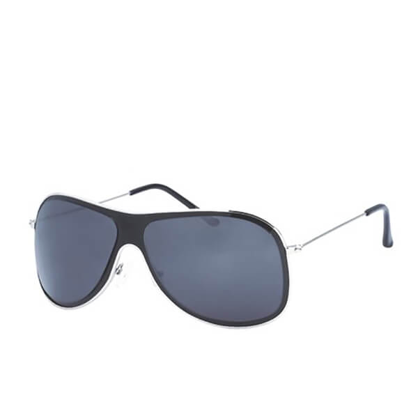 Men's Wrap Sunglasses - Black/Silver