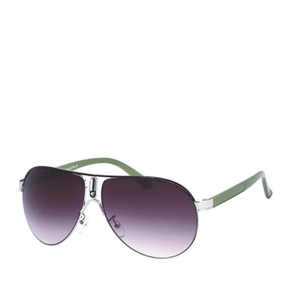 Men's Aviator Sunglasses - Green/Black