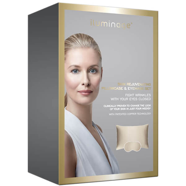 Iluminage Skin Rejuvenating Sesame Pillowcase and Eye Mask