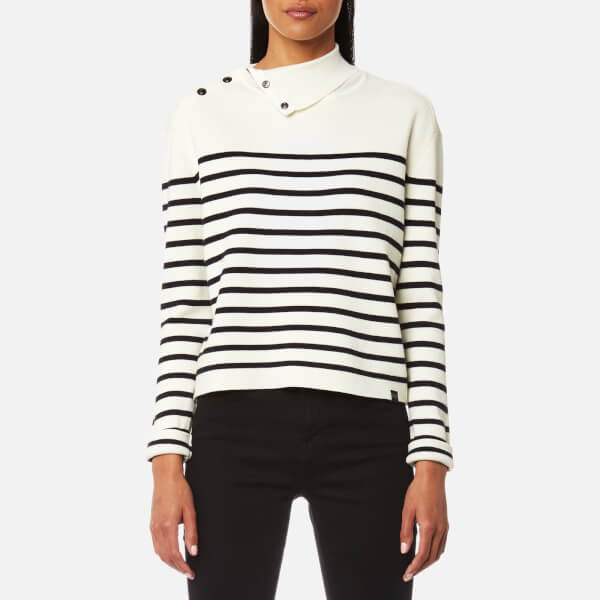 Maison Scotch Women's High Neck Knitted Sailor Top - Combo B