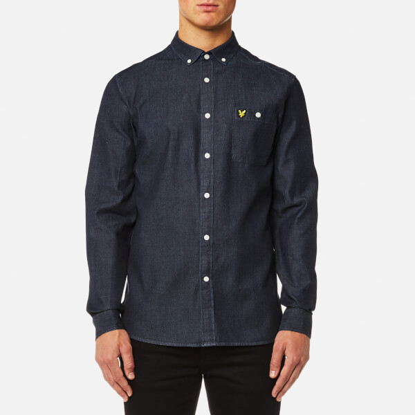 Lyle & Scott Men's Denim Shirt - Dark Indigo