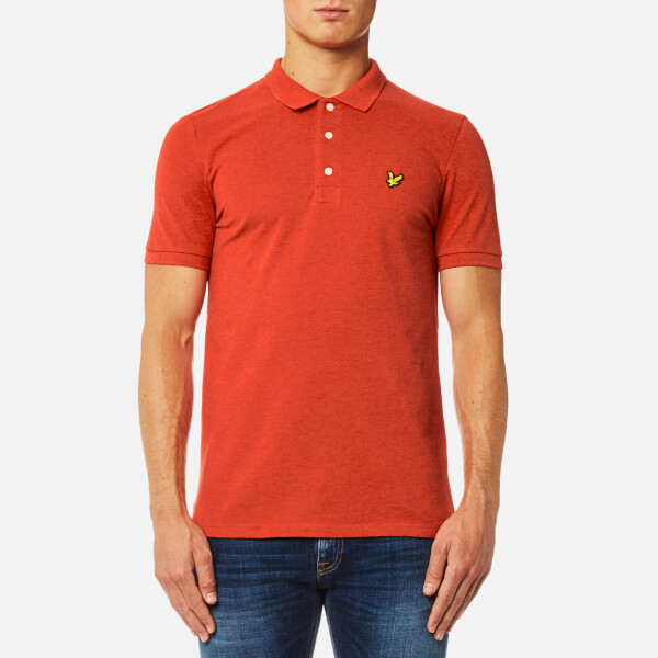 Lyle & Scott Men's Polo Shirt - Flame Red Marl