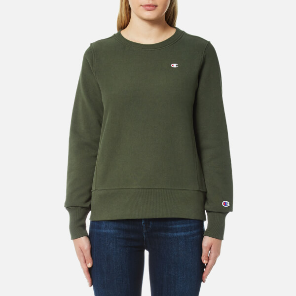 Crew Neck Women's Sweatshirt Green Damenbekleidung Champion E5HqZnwn