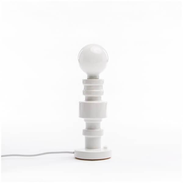 Seletti Turn Table Lamp - White