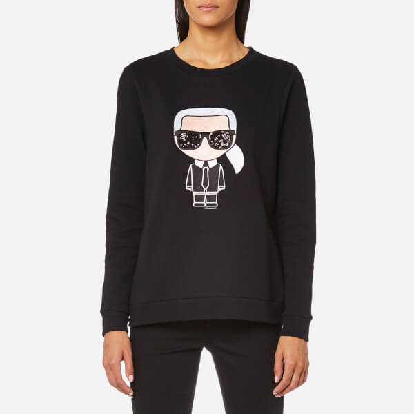 Karl Lagerfeld Women's Karl Iconic Sweatshirt - Black