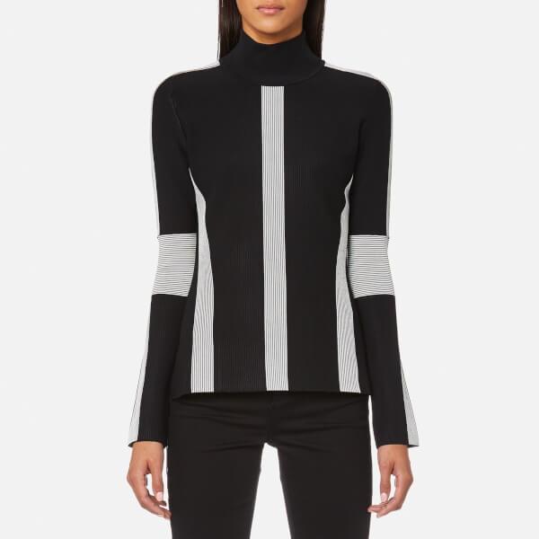 Karl Lagerfeld Women's Ottoman Sweatshirt - Black/White