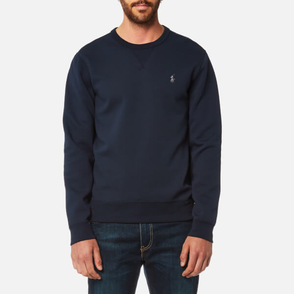 Polo Ralph Lauren Mens Double Knitted Tech Crew Sweatshirt Navy
