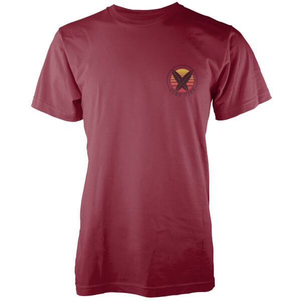T-Shirt Homme Surf Vibe Poche Imprimée Native Shore - Bordeaux