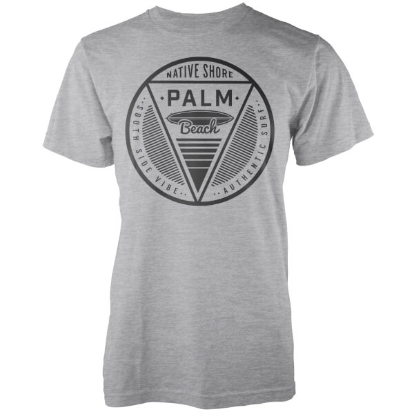 T-Shirt Homme Palm Beach Native Shore - Gris Clair Chiné