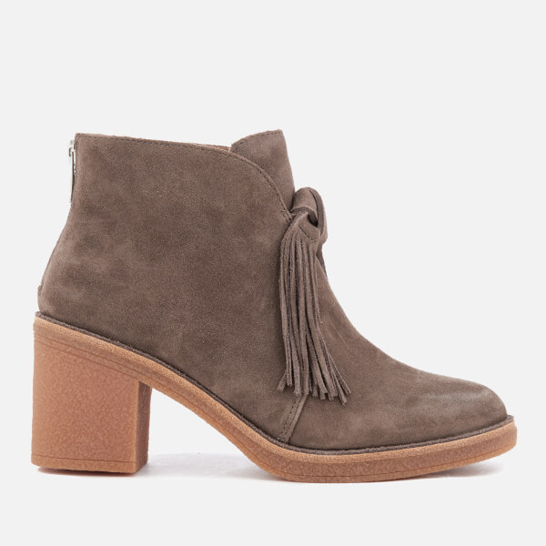 UGG Women's Corin Suede Heeled Ankle Boots - Mouse