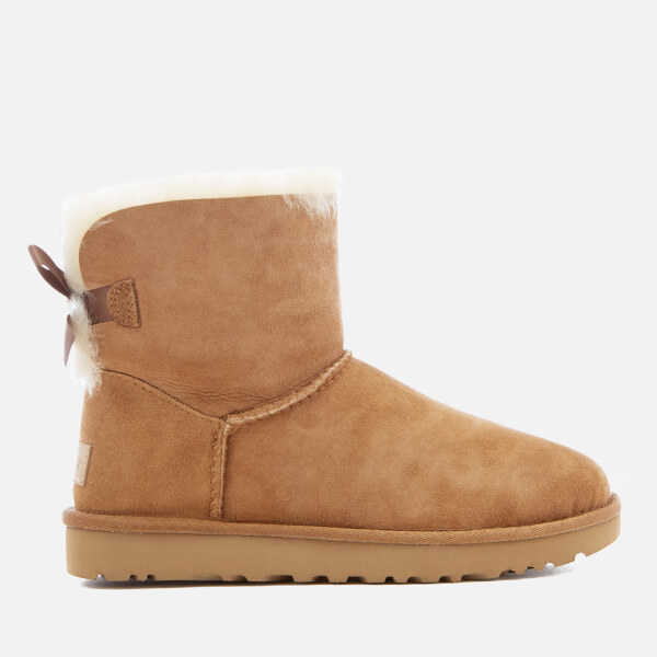 UGG Women's Mini Bailey Bow II Sheepskin Boots - Chestnut: Image 1