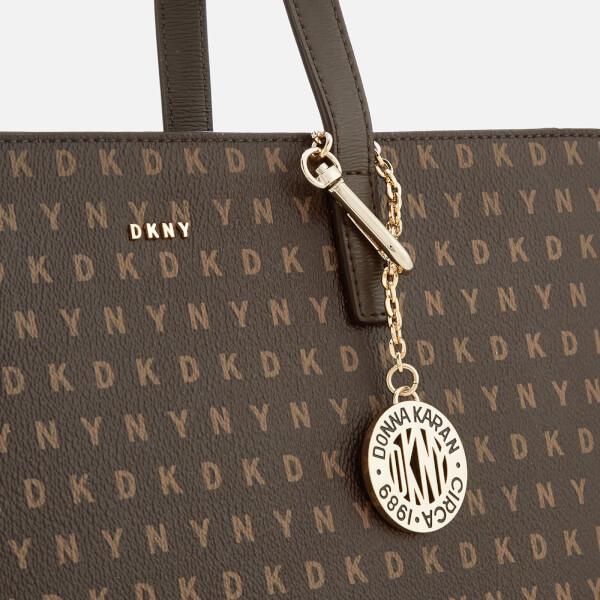 DKNY Women s Coated Logo Medium Tote Bag - Brown Logo  Image 4 4dd4dd483c3a6