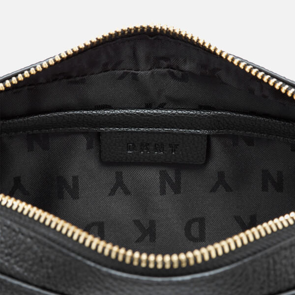 d4b45a4deea6 DKNY Women s Chelsea Pebbled Small Leather Top Zip Cross Body Bag - Black   Image 5