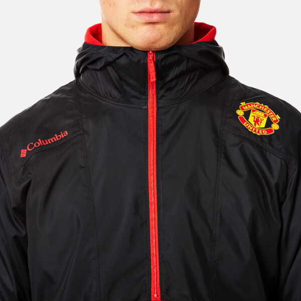 209f65918bd Columbia Men s Manchester United Flashback Windbreaker Pullover - Black   Image 4