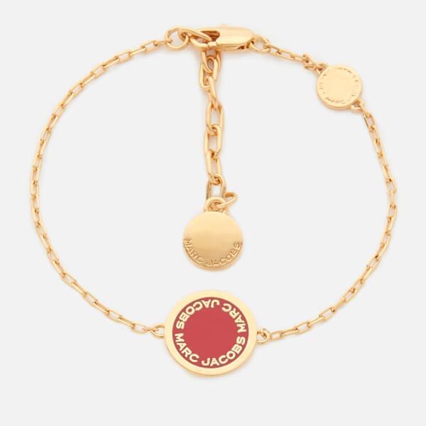 Marc Jacobs Women's Enamel Logo Disc Bracelet - Bisou Red