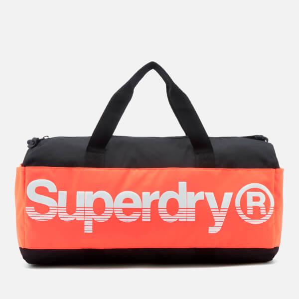Superdry Sport Montana Barrel Bag - Black/Orange/White