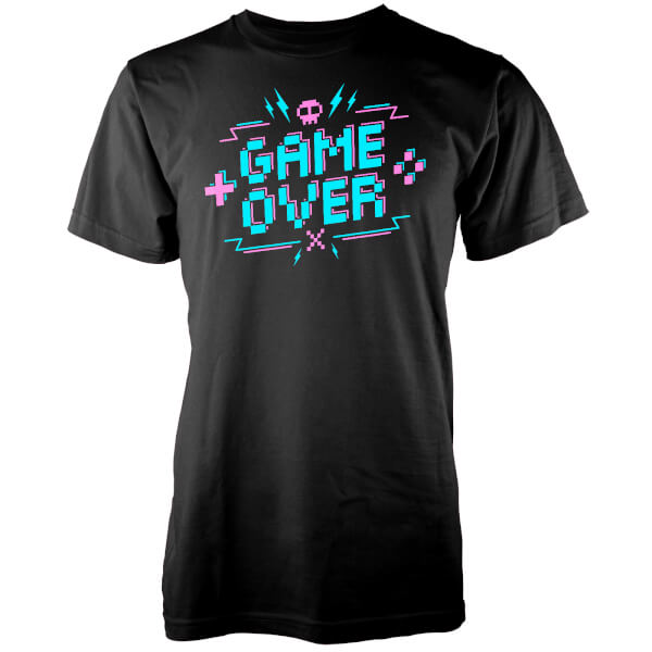 Game Over Pixel Credits Men's Black T-Shirt