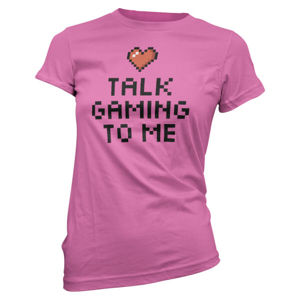 Talk Gaming To Me Pixel Heart Women's Pink T-Shirt