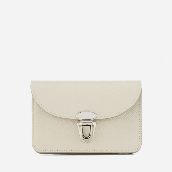The Cambridge Satchel Company Women's Small Push Lock Purse - Cream Saffiano