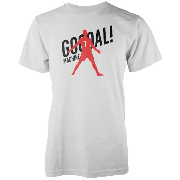 T-Shirt Homme Goal Machine - Blanc