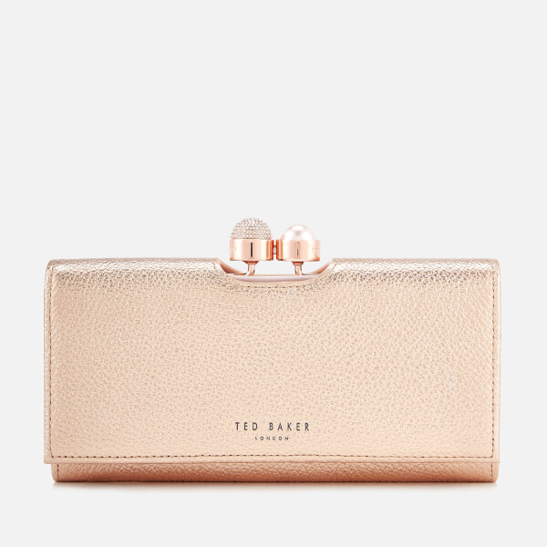 29e7507f92c815 Ted Baker Women S Marta Crystal Pearl Bobble Matinee Purse Rose Gold
