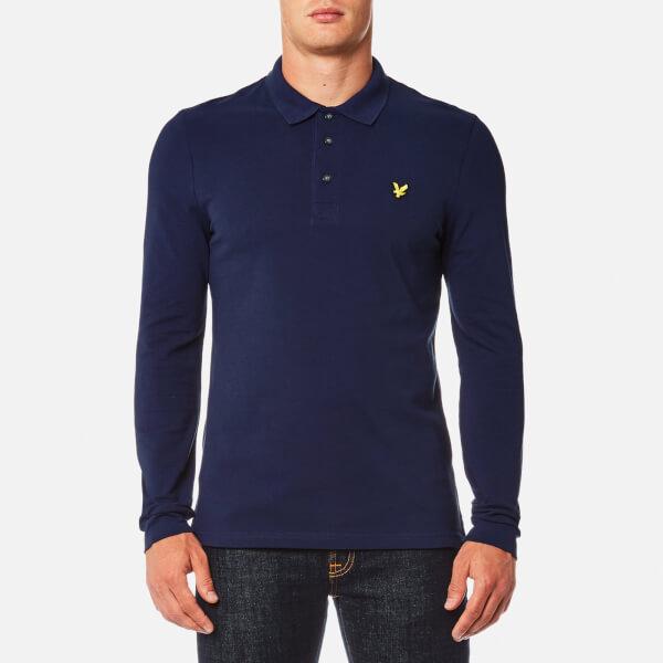 Lyle & Scott Men's Long Sleeve Polo Shirt - Navy