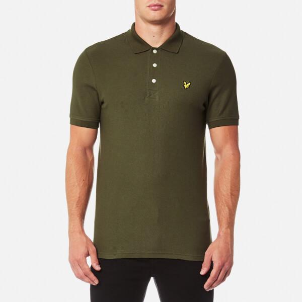 Lyle & Scott Men's Honeycomb Polo Shirt - Olive