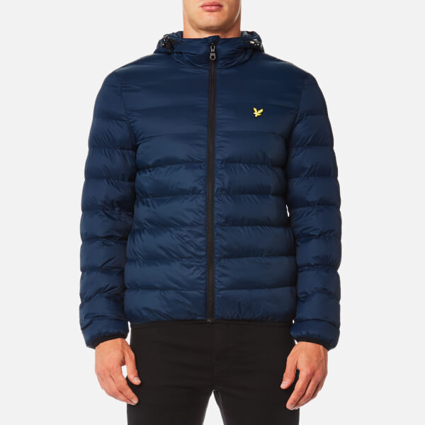 Lyle & Scott Men's Lightweight Puffer Jacket - Navy Jacket