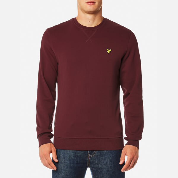 Lyle & Scott Men's Crew Neck Sweatshirt - Claret Jug