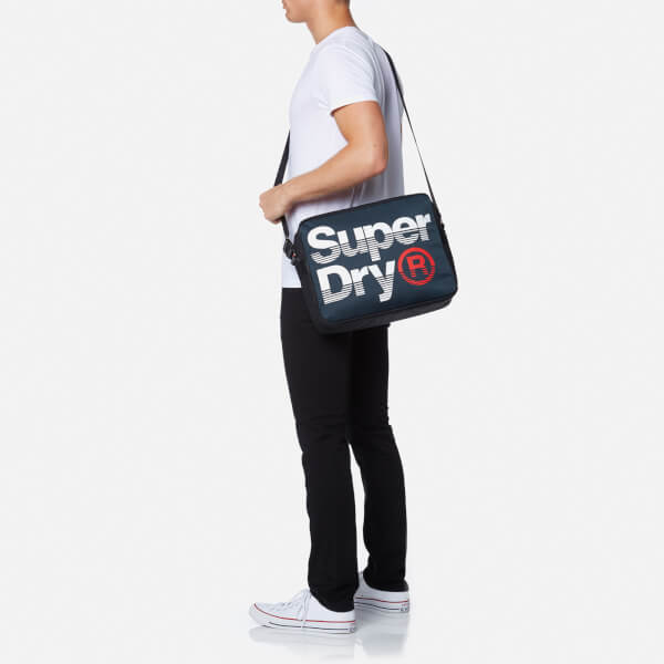 d926ddbc23 Superdry Men s Premium Lineman Messenger Bag - Navy Optic Clothing ...