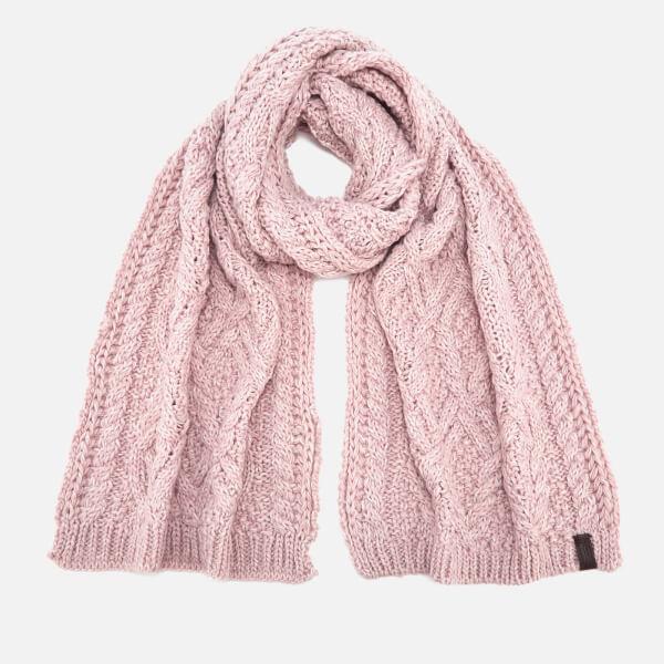 Superdry Women's Nebraska Cable Scarf - Soft Pink: Image 1