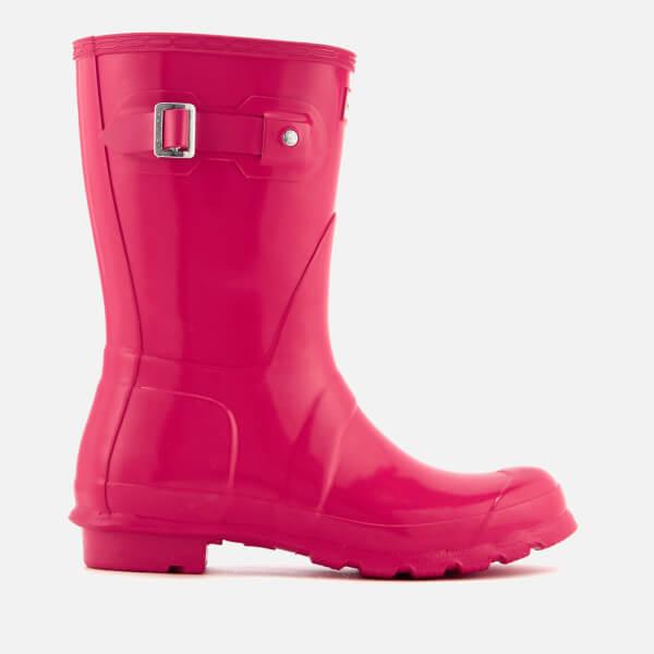 Hunter Women's Original Short Gloss Wellies - Bright Pink
