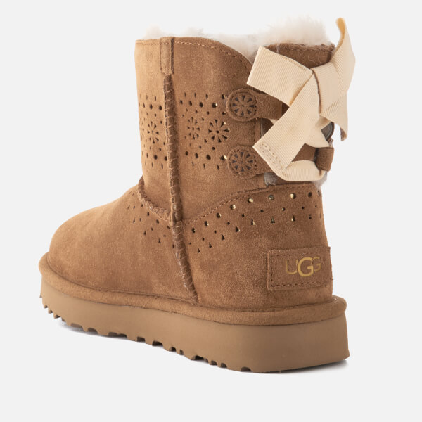 UGG Women's Dae Sunshine Perf Suede Sheepskin Boots - Chestnut - UK 8.5