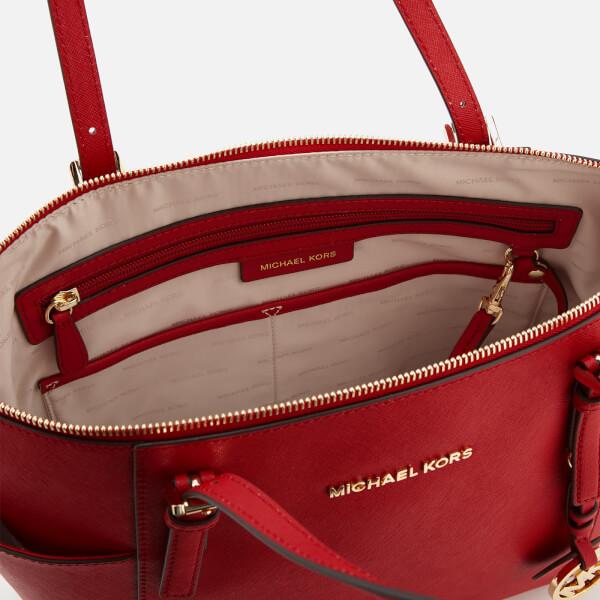 69a620388a8f61 MICHAEL MICHAEL KORS Women's Jet Set East West Top Zip Tote Bag - Bright  Red: