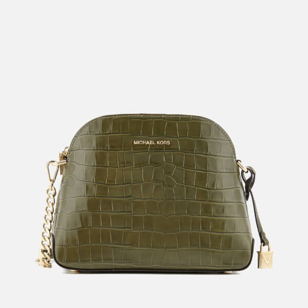 MICHAEL MICHAEL KORS Women's Mercer Medium Dome Cross Body Satchel - Olive