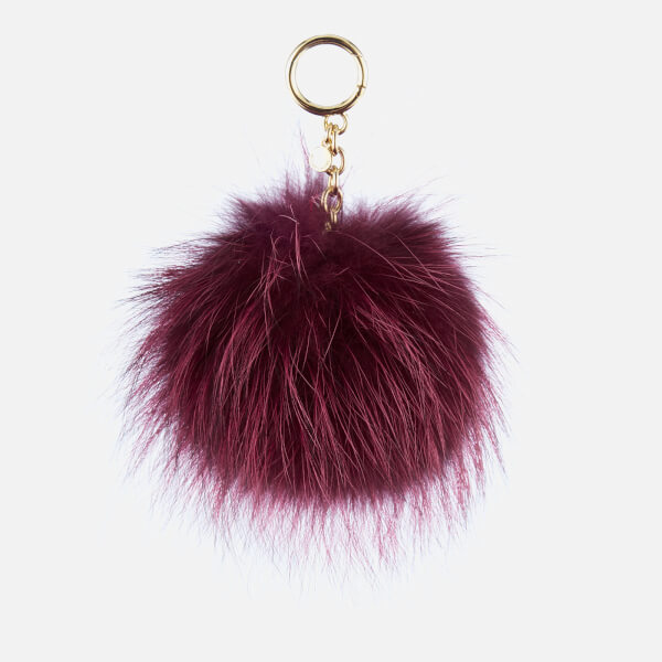 MICHAEL MICHAEL KORS Women's Charms Large Fur Pom Pom - Mulberry