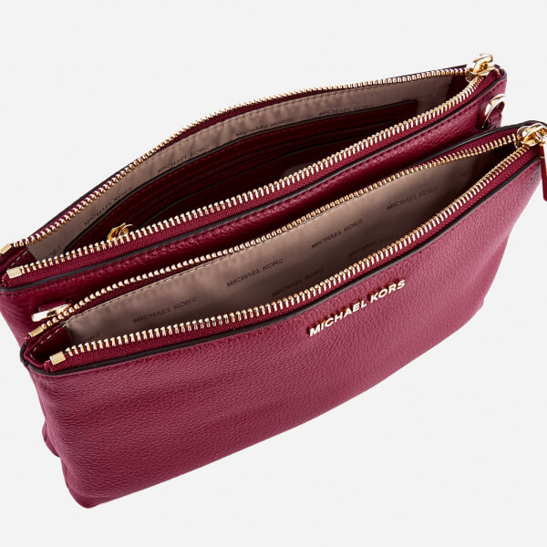 748a809aeb81 MICHAEL MICHAEL KORS Women's Double Zip Cross Body Bag - Mulberry: Image 5